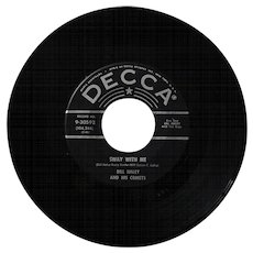 Original 1958 45rpm record by Bill Haley, Skinny Minnie