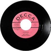 "Original Bill Haley 45 ""Caldonia"" from 1959 on Decca, promotional copy"