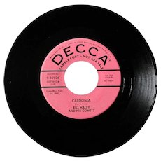 "Original Bill Haley 45 ""Caldonia"" from 1959 on Decca, promotional copy"