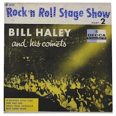 "Original 1956 Bill Haley and His Comets EP ""Rock and Roll Stage Show Vol.2"" made in Mexico"