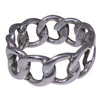 Vintage sterling silver chain ring size: 9