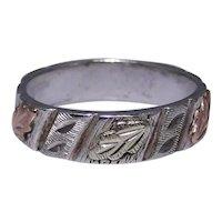 Sterling band ring Black Hills Gold mark size: 7