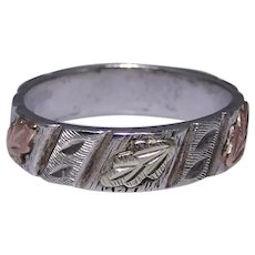 Sterling band ring Black Hills Gold mark size: 7