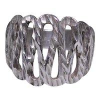 Fancy diamond cut sterling ring size: 4