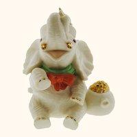 Lenox Lucky Little Irish Elephant vintage figurine