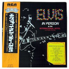 "Vinyl album by Elvis Presley from Japan ""Live In Person at The International Hotel Las Vegas Nevada"" with rare gatefold cover"