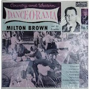 """10"""" Limited edition LP by Milton Brown and His Brownies, 1930s western swing music"""
