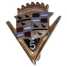 10kt gold Cadillac anniversary pin