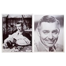 2 vintage 8x10  prints of Clark Gable, nice vintage condition