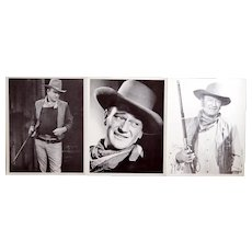 3 vintage John Wayne movie stills