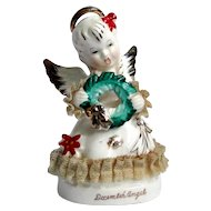 December Angel vintage figurine, very good condition
