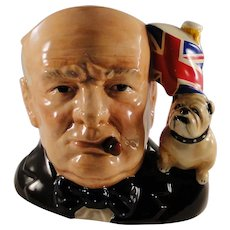 Royal Doulton larger Winston Churchill Toby jug, made in 1992