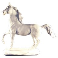 Kaiser Porcelain stallion figurine, signed, limited edition