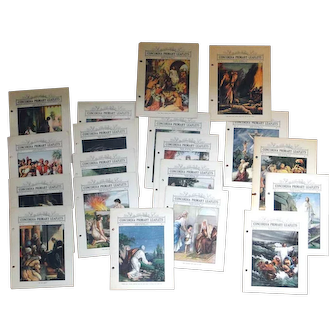Variety Concordia religious flyers from 1929, group of nineteen, great artwork
