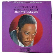 Vintage phonograph album by Joe Williams, jazz singer, on Roulette