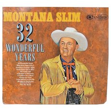 Vintage sealed album by Montana Slim, cowboy music, RCA Camden, sealed copy 1960s