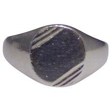 Vintage sterling signet ring, signed RJ, Avon, 925 size 12