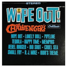 """Vinyl album """"Wipe Out!"""" by the Challengers on GNP Crescendo"""