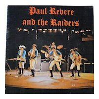 Original 1960s Paul Revere and The Raiders concert program