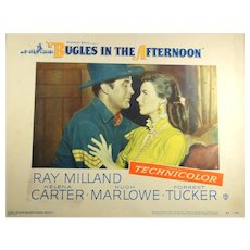 Original vintage lobby card from Bugles In The Afternoon with Ray Milland, Forrest Tucker, etc.
