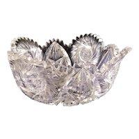 P&B, Pitkin & Brooks lead crystal bowl with hallmark