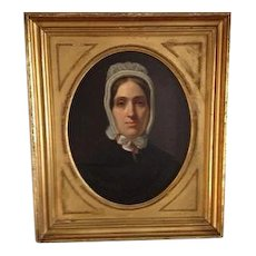 Antique 19th Century  **IN SOLD PROCESS**  Virginia Portrait of A Lady. American ca 1810