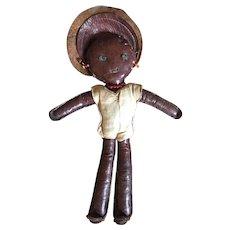 Early 20th Century Black Folk Art Doll  From Charleston South Carolina  ca. 1910