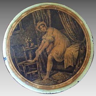 19th Century English Paper-mache  Erotic Snuff Box  ca 1835
