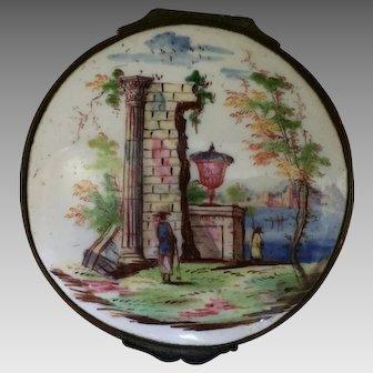 18th Century English  Bilston Enamel Box  ca. 1750