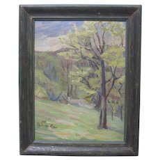 EUGENE LEAKE Original Maryland Landscape Oil Trees Signed Impressionist Listed