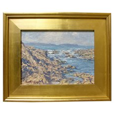 GARY RAY Listed CA Plein Air Small Coastal Seascape Signed Original