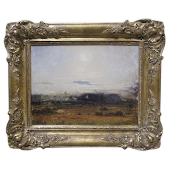 ALFONSO TOFT Antique Oil Landscape UK Listed Artist Early 20th C