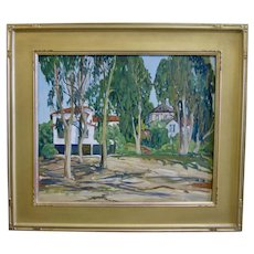 1930s Early California Plein Air Impressionist Oil Painting