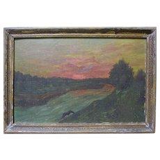 MARK JOFFE Listed NY Artist Surrealist Luminist Landscape Horse Oil Painting Signed Russian Jewish Art