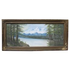 Antique American Pastel Painting Framed Signed McCourtney 19th Century Art