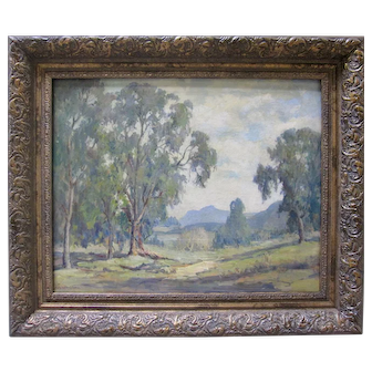 MARY DARTER COLEMAN Woodland Hills Landscape Oil Early CA Plein Air
