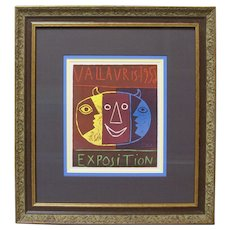 Pablo Picasso HAND-SIGNED Vallauris Exposition 1956 Lithograph Framed COA
