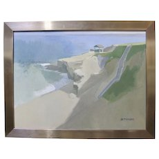 PAUL STRAHM La Jolla Shell Beach California Seascape Original Signed Plein Air