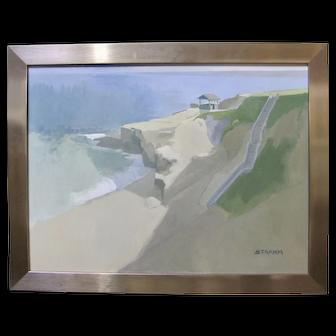 PAUL STRAHM La Jolla Shell Beach California Seascape Original Signed Plein Air