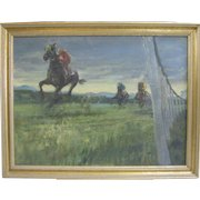 Large Horse Painting Listed CA Original Oil Painting