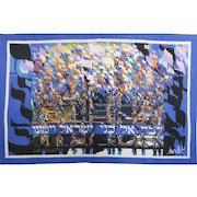 "Raymond Moretti Hebrew Jewish Art ""Crossing the Red Sea"" Wall Tapestry Signed COA"