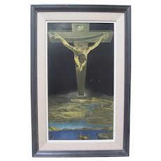 SALVADOR DALI Christ of Saint John on the Cross Vintage Original Lithograph Framed