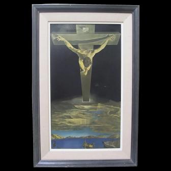 SALVADOR DALI Christ of Saint John on the Cross Vintage Original Lithograph Framed