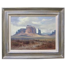 RALPH LOVE Monument Valley Original Oil Painting Signed Listed Early California Plein Air