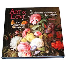 """Art & Love: The Metropolitan Museum of Art"" - Kate Farrell, 1990 First Edition - FREE Shipping"