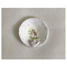 Wonderful French Faience Style Pottery Dish by Julie Whitmore Teatime Mouse
