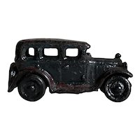 Charming Antique Black Cast Iron Sedan Toy Car