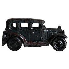 Charming Antique Black Cast Iron Sedan Toy Car