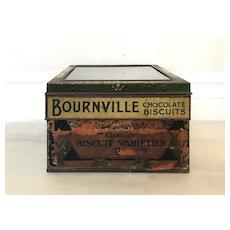 Antique English Cadbury Biscuit Glass & Tin General Store Advertising Display
