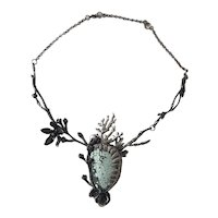 Gorgeous OOAK Sterling & Turquoise Primrose Keeper Necklace by JAMIE SPINELLO